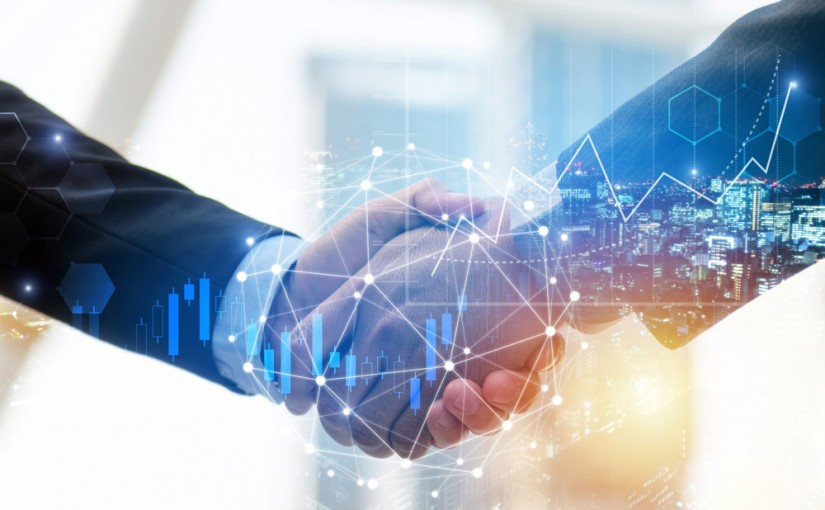 Business,Man,Investor,Handshake,With,Global,Network,Link,Connection,And