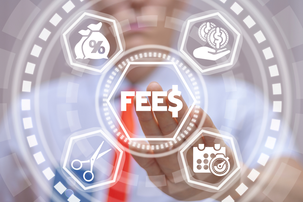 Fee,And,Fees,Financial,Technology.,Man,Working,On,Virtual,Screen