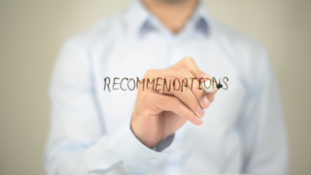 Recommendations,,Man,Writing,On,Transparent,Screen